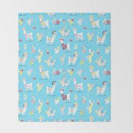 Alpaca Pattern Throw Blanket