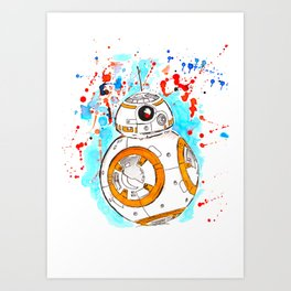 BB8 Ink Splatter Art Print