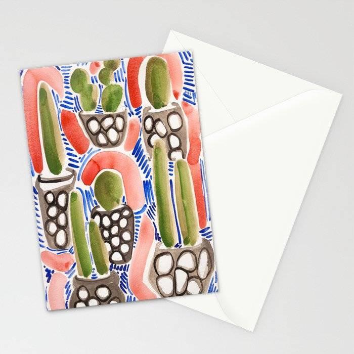 Cocktail Bling Plants Stationery Cards