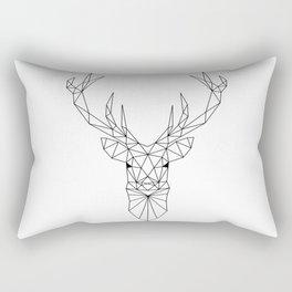Geometric Deer Head Rectangular Pillow