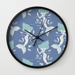 Mermaid Selfie Wall Clock