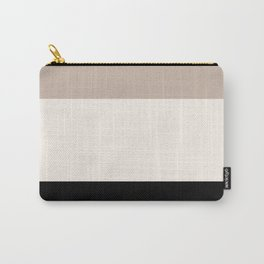 black tan cream bold stripes Carry-All Pouch