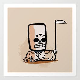 Mr. Calavera Art Print