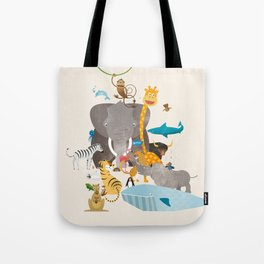 Kids Room Animals – Illustration for the sleeping room of girls and boys Tote Bag
