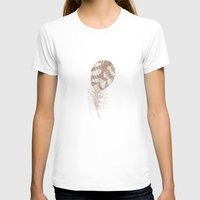 feather T-shirts featuring The Solitary Feather by Sandra Ireland