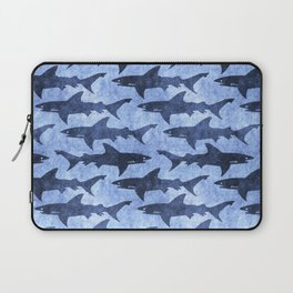 Blue Ocean Shark Laptop Sleeve