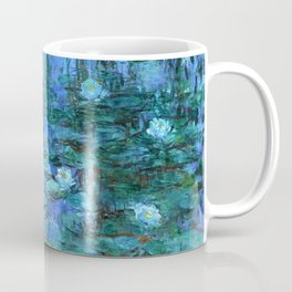 Claude Monet Water Lilies BLUE Coffee Mug