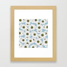 Daisy Blue Framed Art Print