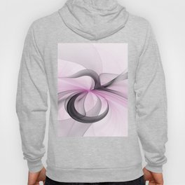 Abstract Art Fractal With Pink Hoody