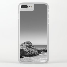 Birds sit on rocks along Rancho Palos Verdes coastline Clear iPhone Case