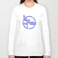mockingjay Long Sleeve T-shirts featuring Mockingjay - Floral by Elisa Gordon