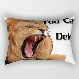 You Can't Defend Me Rectangular Pillow