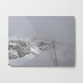 Snow is whiter on the other side Metal Print
