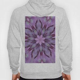 Floral Abstract Of Pink Hydrangea Flowers Hoody