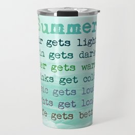 SUMMER by Monika Strigel Travel Mug