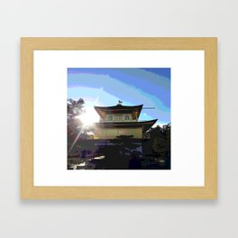 Golden Pavilion Framed Art Print