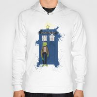 kermit Hoodies featuring Doctor Who Kermit by Roe Mesquita