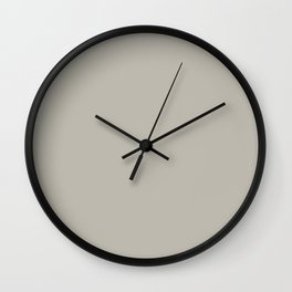 Dark Gray Taupe Solid Color Inspired by Benjamin Moore Thunder Gray AF-685 Wall Clock