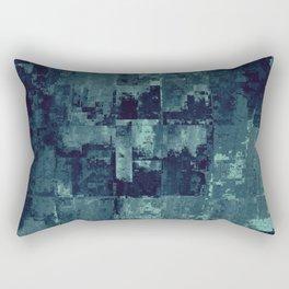 Glitched Grid Rectangular Pillow