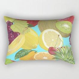 Galactic Fruits - Colorful Rectangular Pillow