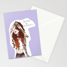 tattoos of memories Stationery Cards