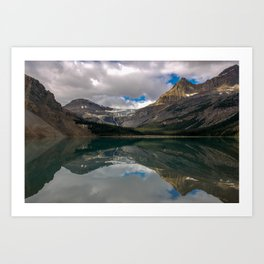 Bow Lake, Rocky Mountains, Canada Art Print