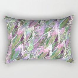 Feather Fancy — Soft Greens • Pinks • Voilets Rectangular Pillow