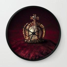 Golden Crown Wall Clock