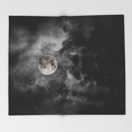 Black Night Throw Blanket