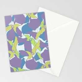 Blocked Flowers Stationery Cards