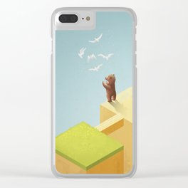 lost thoughts Clear iPhone Case