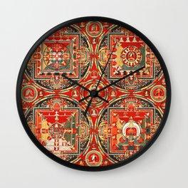 Mandala Buddhist 3 Wall Clock