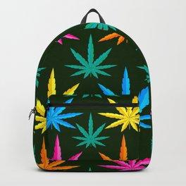 Colorful Marijuana weed Backpack