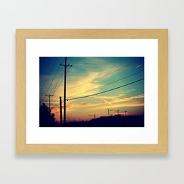 let us paint the sky Framed Art Print