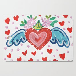 Valentine Heart with Wings Cutting Board