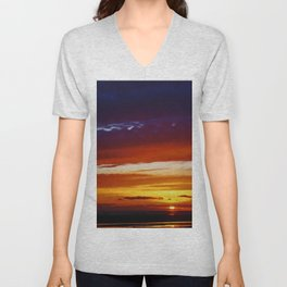 Liverpool Bay at sunset Unisex V-Neck