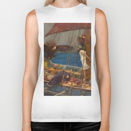"John William Waterhouse ""Ulysses and the Sirens"" Biker Tank"