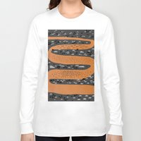 river song Long Sleeve T-shirts featuring river by crayon dreamer