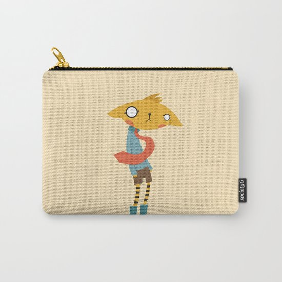 Cat with Tie Carry-All Pouch