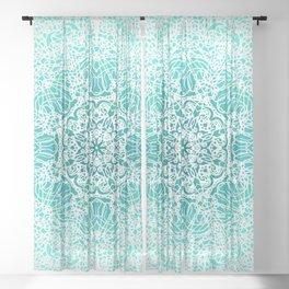 Mehndi Ethnic Style G344 Sheer Curtain