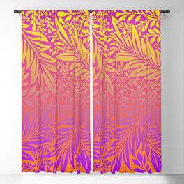 Summer Vintage foliage illustration with Gradient background  for fine home decoration Blackout Curtain