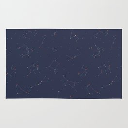 Zodiac Constellations Pattern Rug