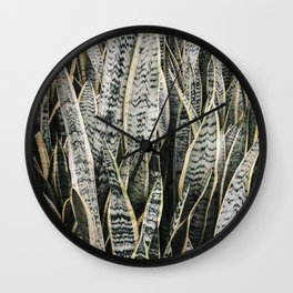 Plant Photography Tropical Exotic Plants Snake Tongue Beauty Wild Nature Wall Clock