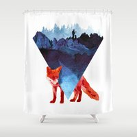 road Shower Curtains featuring Risky road by Robert Farkas