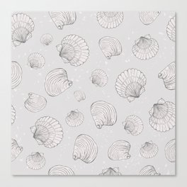 Elegant Sea Shell Art Canvas Print