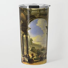Giovanni Paolo Panini's Masterpiece: The Wedding at Cana, circa 1725 Travel Mug