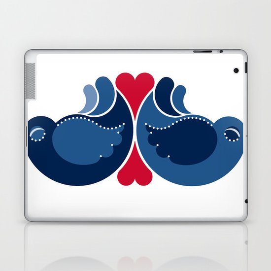 Blue Lovebirds Laptop & iPad Skin
