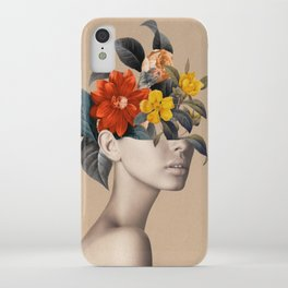 woman with flowers 8 iPhone Case