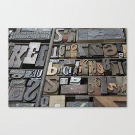 Typeface II Canvas Print