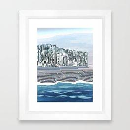 Sea Stars on The Black Sand / Coast Framed Art Print